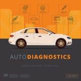 Шаблон предпосылки диагностик автомобиля Автоматический осмотр или гараж иллюстрация вектора
