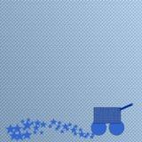 Шаблон предпосылки младенца мальчика Стоковая Фотография RF