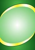Шаблон предпосылки плаката A4 Заголовок и сноска зеленого цвета и цвета золота Стоковые Изображения RF