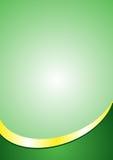 Шаблон предпосылки плаката A4 Сноска зеленого цвета и цвета золота Стоковые Фото