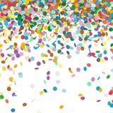 Шаблон предпосылки Confetti - падая фон Чад Стоковые Изображения