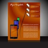 Шаблон представления брошюры с электронными элементами Стоковые Фотографии RF
