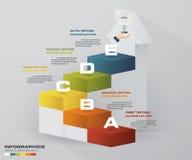 Шаблон представления дела шагов конспекта 5 цвет 5 шагов выравнивает в вертикальной лестнице размера иллюстрация штока