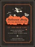 Шаблон приглашения партии хеллоуина Стоковая Фотография RF