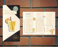 Шаблон приглашения рогульки партии коктеиля салона Стоковая Фотография RF