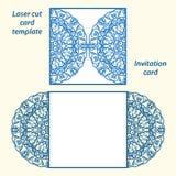 Шаблон приглашения свадьбы вектора Lasercut Стоковая Фотография RF