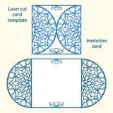 Шаблон приглашения свадьбы вектора Lazercut Стоковое Изображение RF