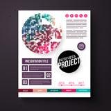 Шаблон проекта дела в ретро цветах Стоковые Изображения RF