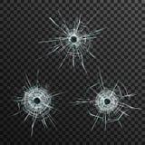 Шаблон пулевых отверстий иллюстрация вектора