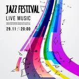 Шаблон плаката джазового фестиваля Джазовая музыка саксофон Международный день джаза конструкция легкая редактирует элемент для т Стоковая Фотография RF