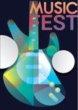 Шаблон плаката джазовой музыки Стоковые Изображения