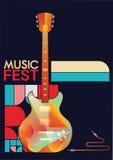 Шаблон плаката музыки Стоковая Фотография RF