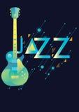 Шаблон плаката музыки Стоковое фото RF