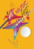 Шаблон плаката музыки Стоковое Изображение RF