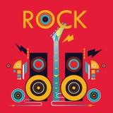 Шаблон плаката музыки Стоковая Фотография