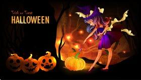 Шаблон плаката хеллоуина бесплатная иллюстрация