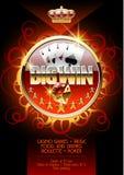 Шаблон плаката Vectorburning для партии казино ночи Стоковая Фотография