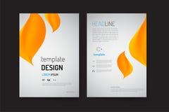 Шаблон плана брошюры и дизайн предпосылки Стоковая Фотография