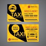 Шаблон плана визитной карточки предприятия сферы обслуживания приемистости такси иллюстрация вектора