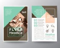 Шаблон плана дизайна рогульки брошюры вектора Стоковое Фото