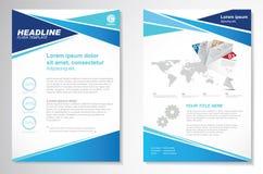 Шаблон плана дизайна рогульки брошюры вектора Infographic Стоковое Изображение RF