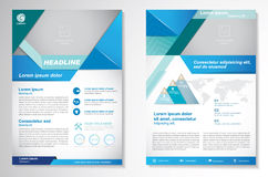 Шаблон плана дизайна рогульки брошюры вектора Infographic Стоковые Фотографии RF