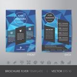 Шаблон плана дизайна рогульки брошюры дела полигона в siz A4 Стоковое Изображение
