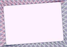 Шаблон рамки пустой для сертификата Стоковое Фото