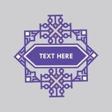 Шаблон рамки Insignias ретро дизайна роскошный для логотипа Знак дела, идентичность для ресторана, королевской власти, бутика, го Стоковые Фото