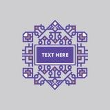 Шаблон рамки Insignias ретро дизайна роскошный для логотипа Знак дела, идентичность для ресторана, королевской власти, бутика, го Стоковое Изображение RF