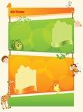 Шаблон ребенк шаржа иллюстрация вектора