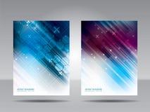 Шаблон, рогулька, карточка или знамя брошюры технологии и commu Стоковые Изображения RF