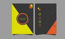 Шаблон рогульки брошюры Стоковое фото RF
