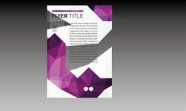 Шаблон рогульки брошюры Стоковые Изображения RF