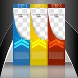 Шаблон рогульки дела или корпоративное знамя Стоковые Изображения