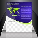Шаблон рогульки дела или корпоративное знамя Стоковая Фотография RF
