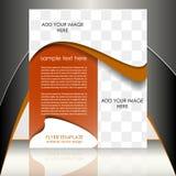 Шаблон рогульки дела или корпоративное знамя Стоковое фото RF