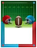 Шаблон рогульки партии американского футбола Стоковое Изображение