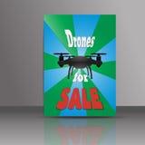 Шаблон рогульки продажи Dronne Обложка журнала трутня, или te брошюры Стоковая Фотография