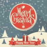 Шаблон рождества и Нового Года Стоковая Фотография