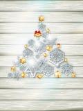 Шаблон рождества с бумажным вырезом 10 eps Стоковое Изображение RF