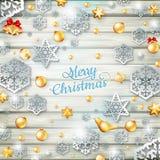 Шаблон рождества с бумажным вырезом 10 eps Стоковые Фото