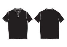 Шаблон рубашки поло Передние и задние взгляды Стоковое фото RF