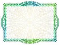 Шаблон сертификата с элементами guilloche Стоковая Фотография RF