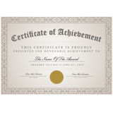 Шаблон сертификата Стоковые Изображения RF