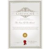 Шаблон сертификата Стоковые Фото