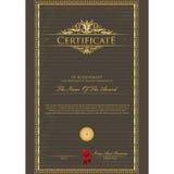 Шаблон сертификата Стоковая Фотография