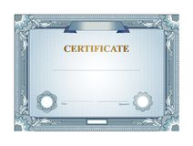 Шаблон сертификата Стоковое Изображение