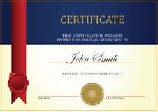 Шаблон сертификата Стоковое фото RF