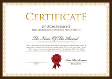 Шаблон сертификата Стоковое Изображение RF